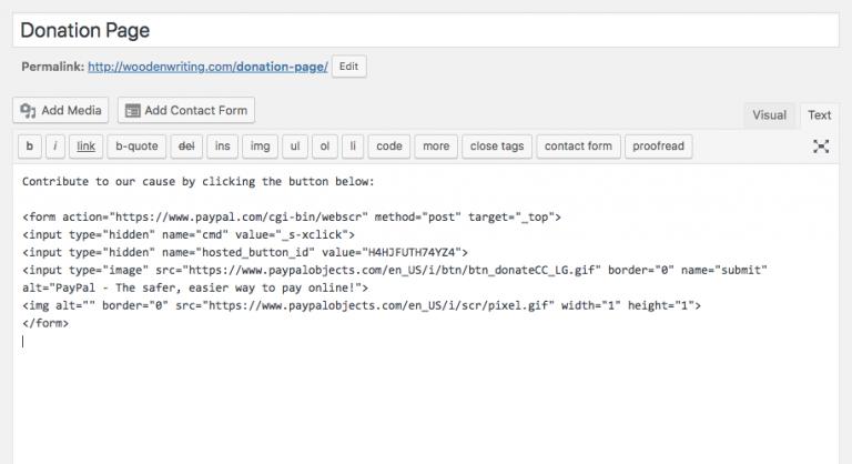 WordPress Yazısına PayPal Bağış Butonu Ekleme