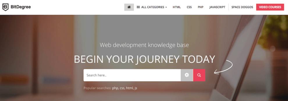 BitDegree ile online kod öğrenme dersleri