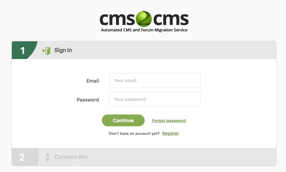 CMS2CMS Hesabı oluşturma