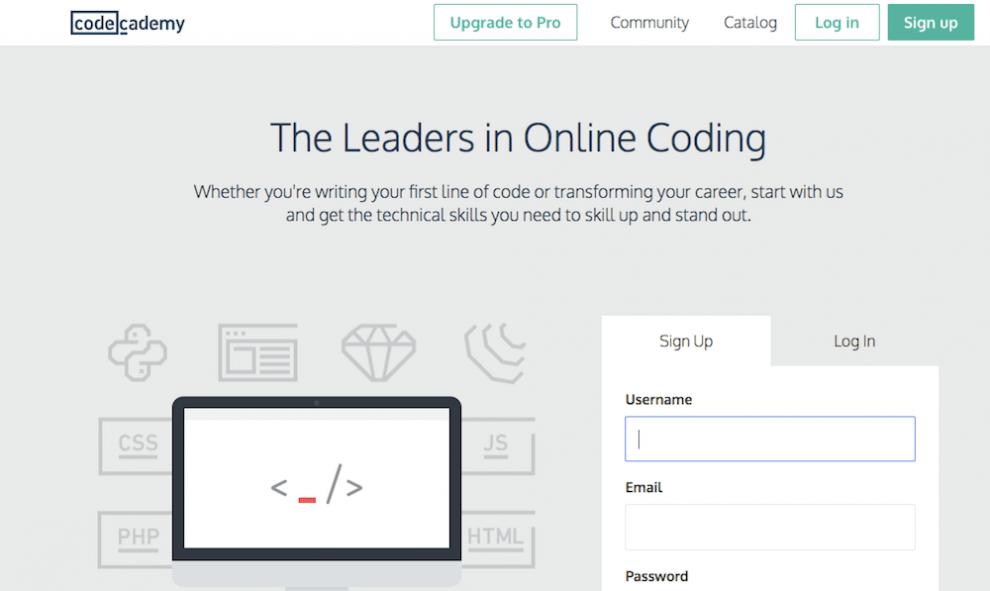 Code Academy ile ücretsiz yazılım öğrenmek
