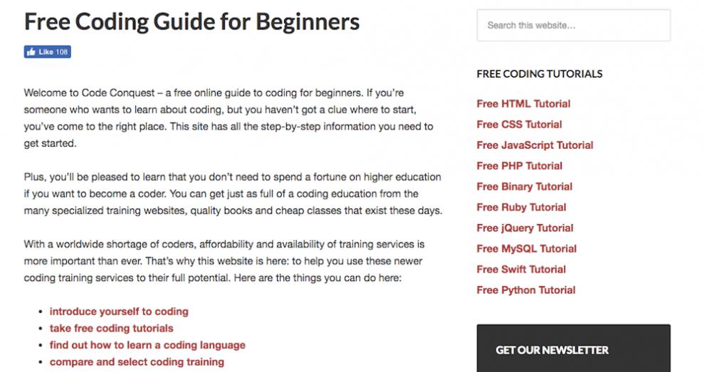 Code Conquest ile online ücretsiz yazılım öğrenmek