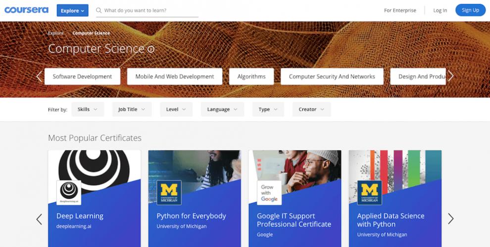Coursera ile online ücretsiz yazılım öğrenmek