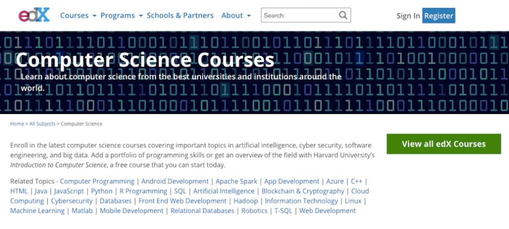 edX ile online ücretsiz yazılım öğrenmek