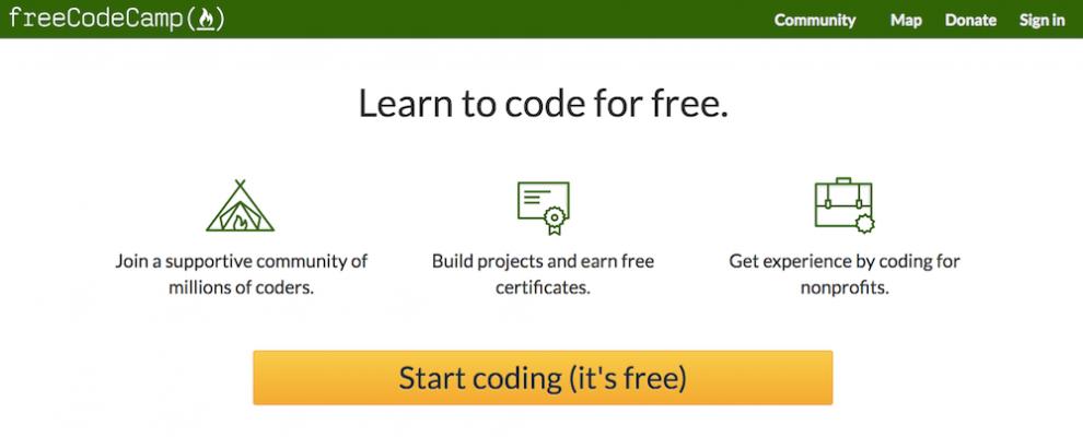 Free Code Camp ile online ücretsiz kod öğrenme dersleri