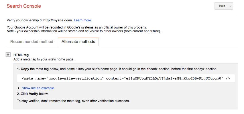 Google search konsolu doğrulaması