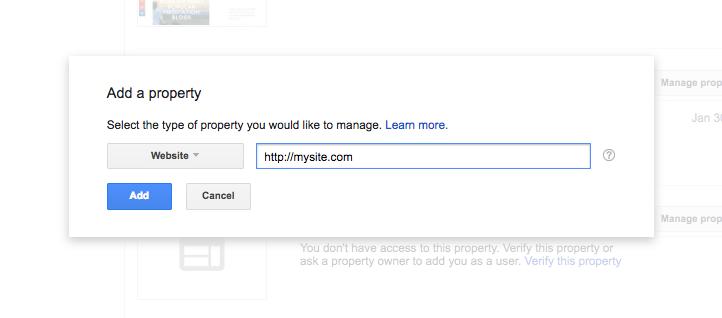 Google search konsolu property ekleme