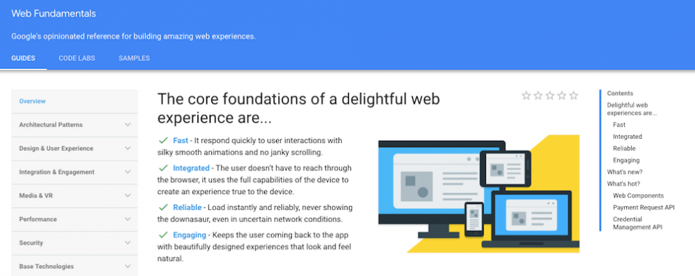 Web Fundamentals by Google ile online ücretsiz yazılım öğrenmek