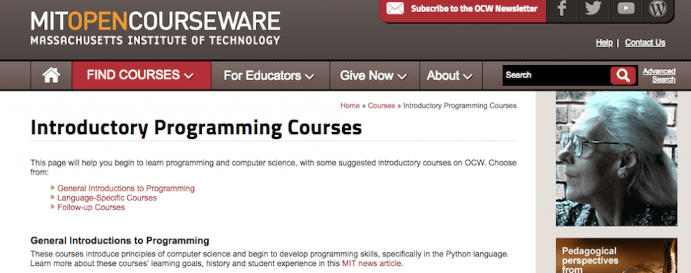 MIT Open Courseware ile online ücretsiz yazılım öğrenmek