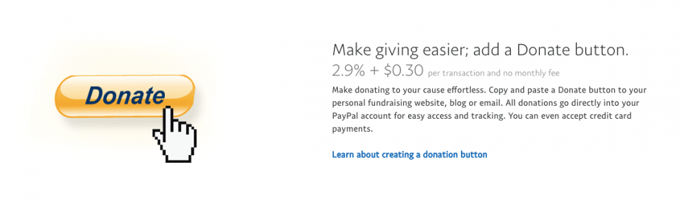 Create a donation button in PayPal