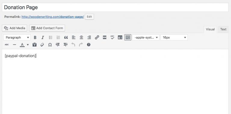 WordPress'de shortcode ile PayPal bağış butonu ekleme