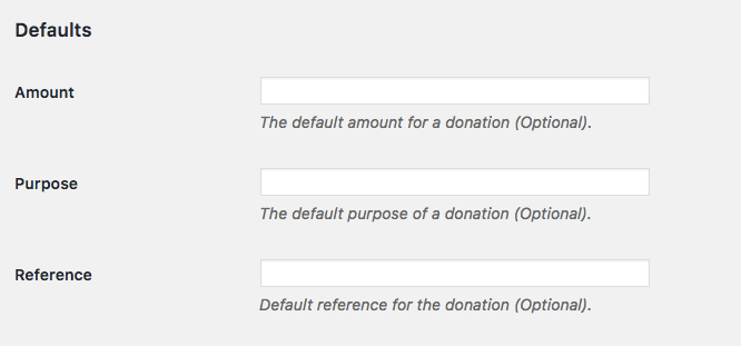 Extra PayPal Donation Button Settings