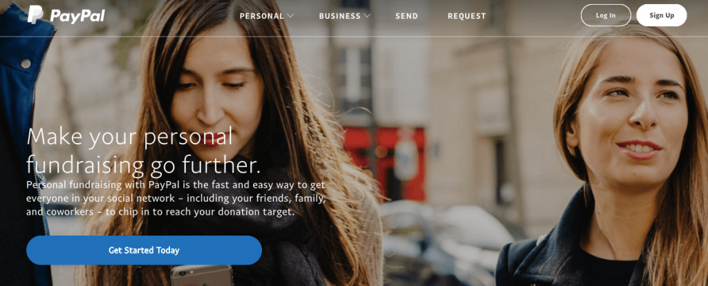 Open a PayPal account to create a donation button