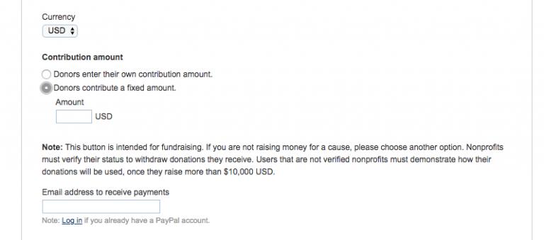 Sabit bağış miktarı ve para birimi belirleme