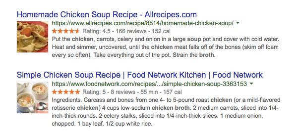 Schema markup örneği
