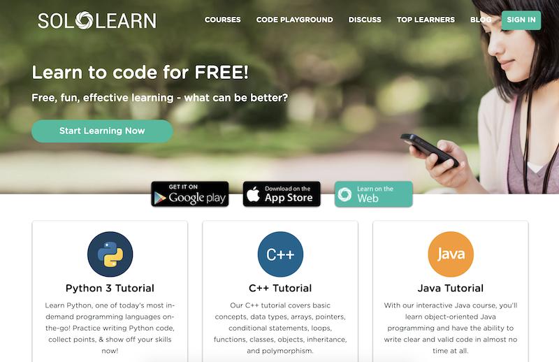 SoloLearn online kodlama öğrenme sitesi