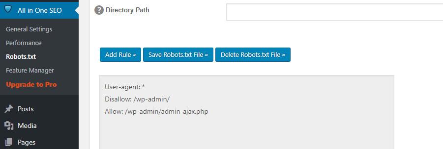 Gri renkli WordPress robots.txt