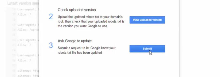 Google Search Console'a dosyanızı gönderme işlemi