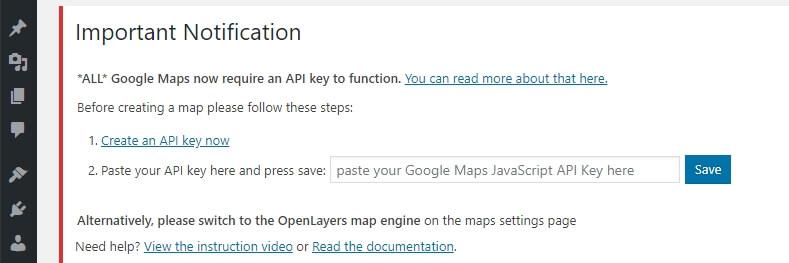 API anahtarı oluşturma