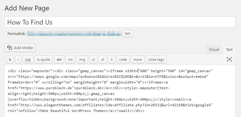 Embed kodunu WordPress editörüne ekleme