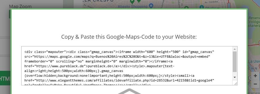 Google Maps embed kodu örneği
