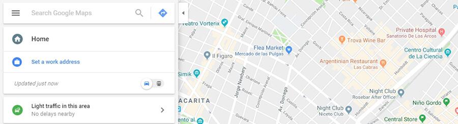 Google Haritalar örneği