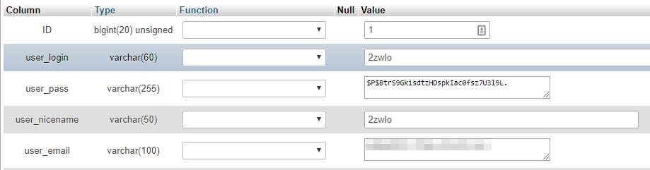 veritabanı aracılığıyla kullanıcı değerlerini düzenleme