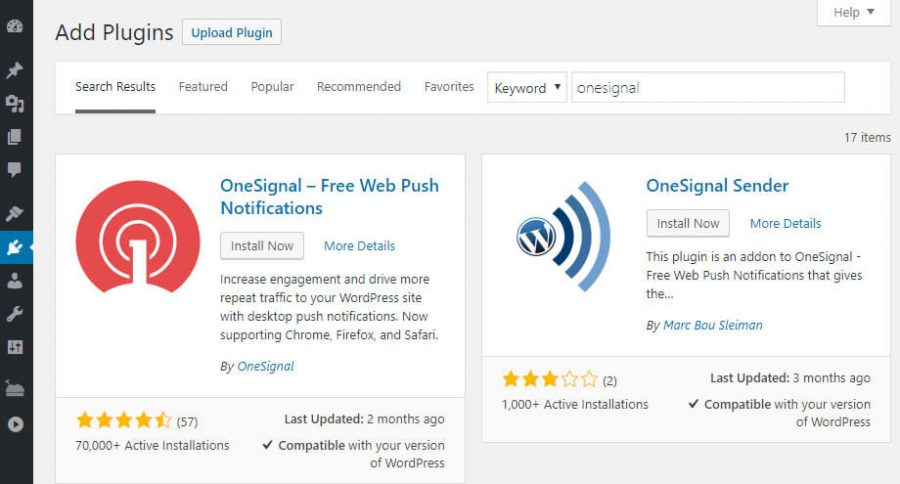 OneSignal WordPress push notifications kurulumu