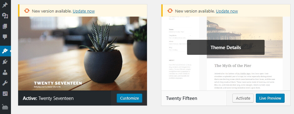 Aktif WordPress Temasını Değiştirme