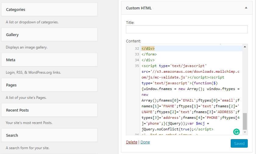 Özel HTML bileşeni iş üstünde
