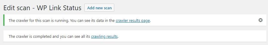 eklentinin crawler sonuçları
