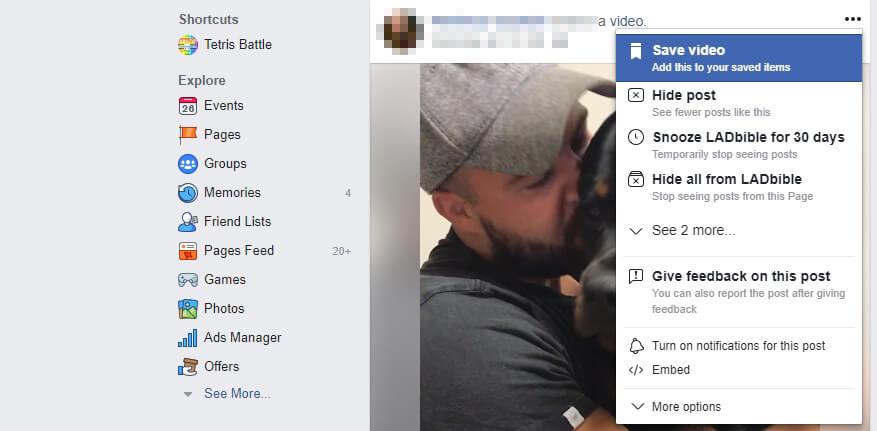 Facebook embed butonu