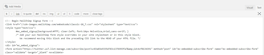 WordPress editörü ile HTML ekleme