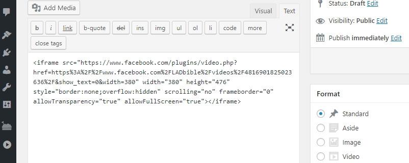WordPress embed kodunu yapıştırma
