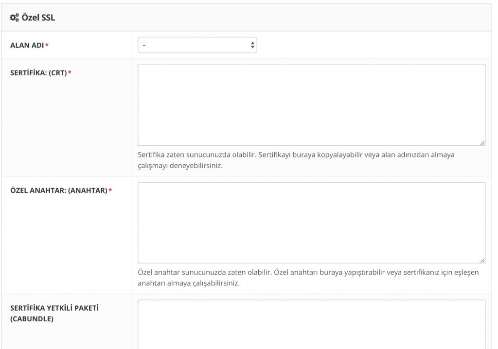 Hostinger kontrol paneli aracılığıyla özel SSL sertifikası ekleme