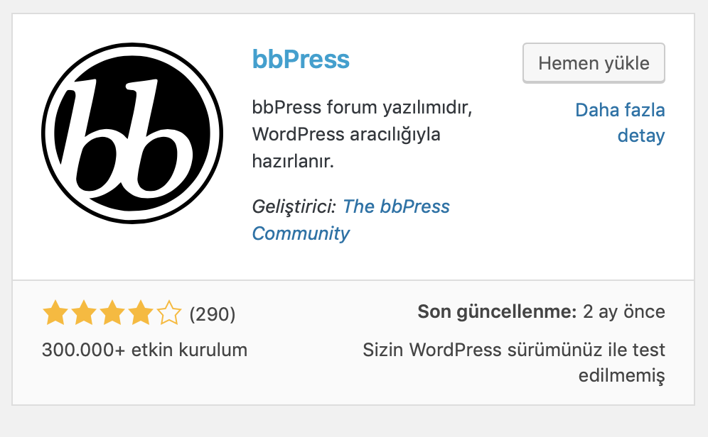 WordPress bbPress eklentisi