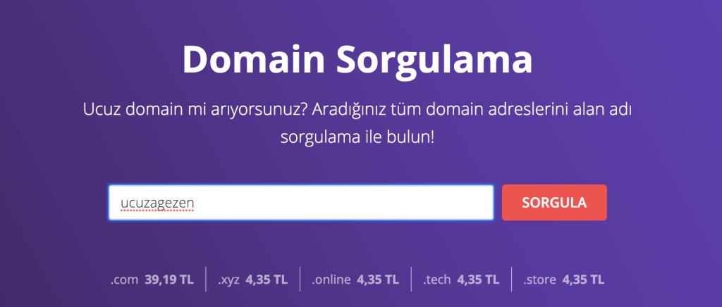 Hostinger kullanarak domain kaydı