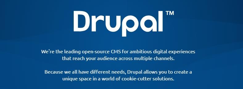 Drupal anasayfası