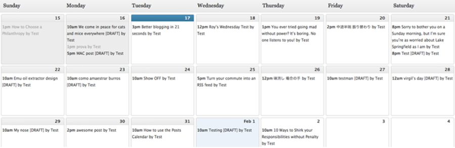 WordPress Editorial Calendar eklentisi