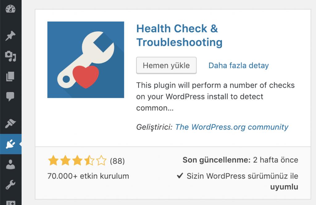 WordPress eklenti yükleme işlemi