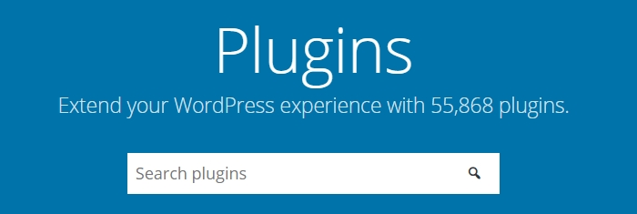 WordPress eklentiler dizini görünümü