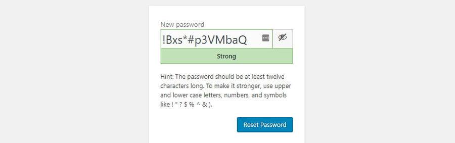yeni şifre ekleme seçeneği