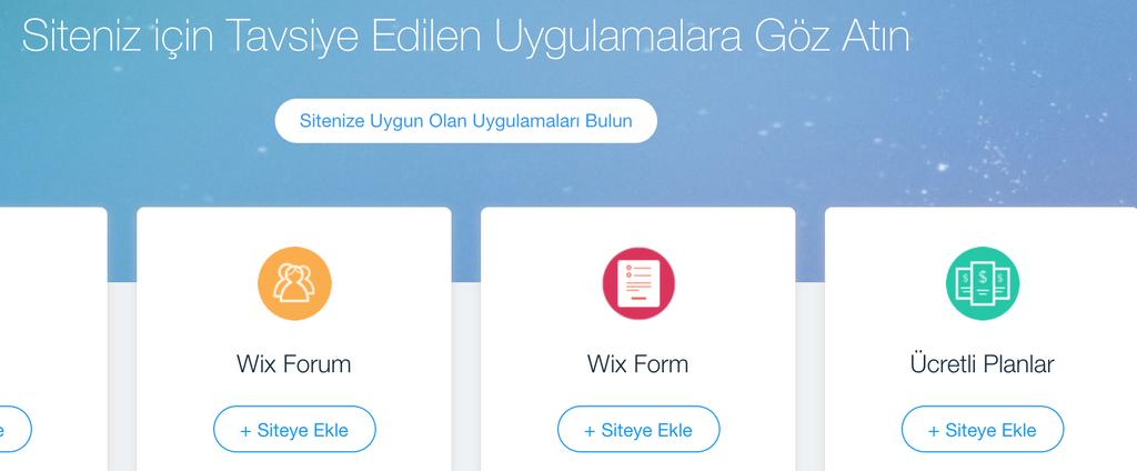 Sitenize Wix uygulamaları ekleme.