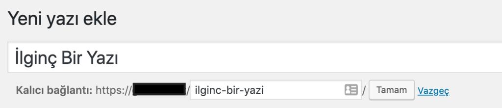 WordPress'de yazı slugı ayarlamak.