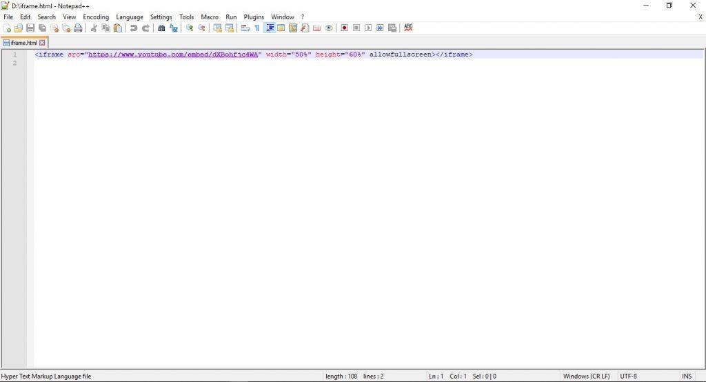 HTML kod yazma programı Notepad++