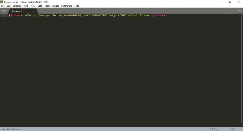 En iyi HTML editor Sublime Text