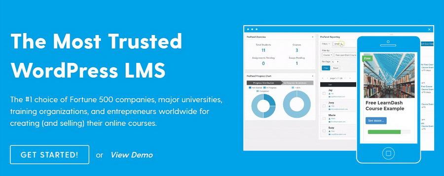 WordPress üyelik sistemi eklentisi olan LearnDash.