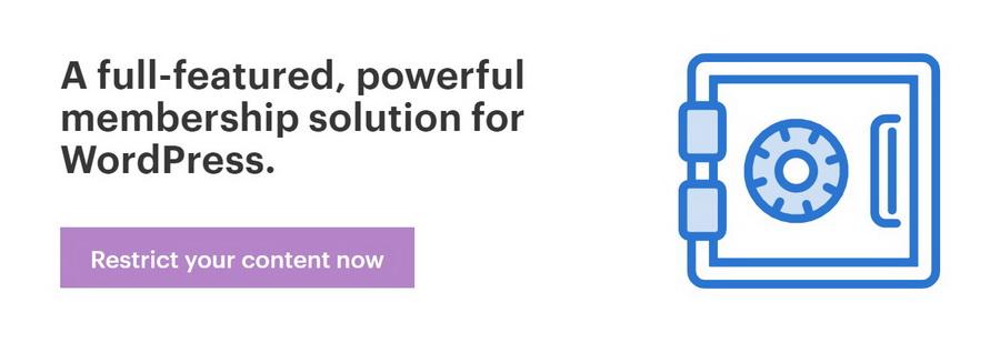 WordPress üyelik sistemi eklentisi olan Restrict Content Pro.