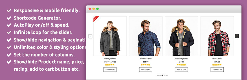 SP WooCommerce Product Slider eklentisi.