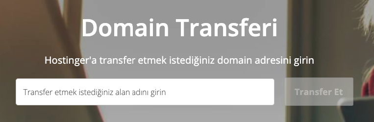 Hostinger'a domain adı transfer etme.