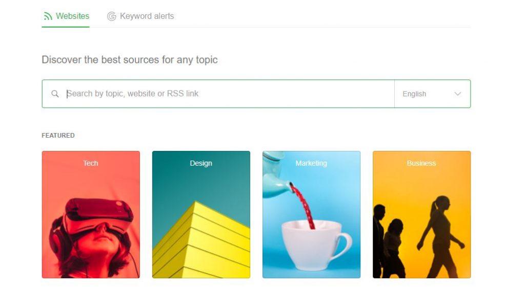 Feedly masaüstü RSS feed ekran görüntüsü.
